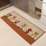dekoratif desenli mutfak halilari