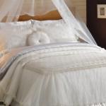 Elart fransız krem yatak örtüsü