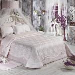 Elart pembe yatak örtüsü