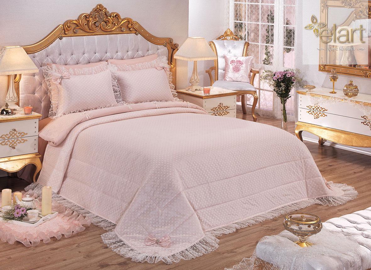 Elart taç mahal yatak örtüsü