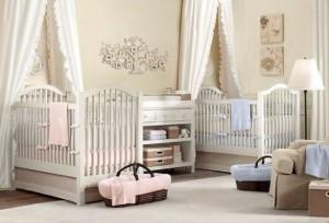 erkek ve kiz ikiz bebek odasi dekorasyonu