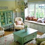 etkileyici vintage salon dekorasyonlari