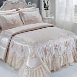 krem yatak örtüsü çeyizlik