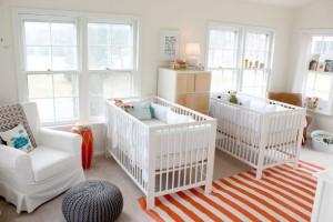 ikiz bebekler için modern dekorasyon fikirleri