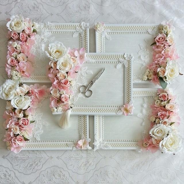 İncili çiçekli nişan tepsisi
