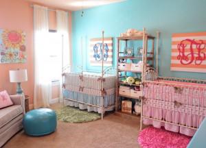 kiz ve erkek bebekler icin renkli oda dekorasyonlari