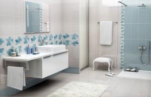 mavi desenli banyo fayanslari