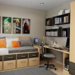 modern genc odasi dekorasyon modeli