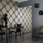 modern yaprak desenli duvar kagidi