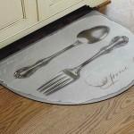 mutfak için oval paspas modeli