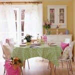 mutfaklarda bahar renkli dekorasyonlar