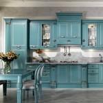 mutfaklarda moda turkuaz rengi