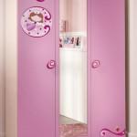 Pembe Kız Çocuk Odası Gardırop Modeli