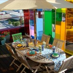 renkli teras dekorasyonu