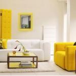 sari beyaz modern oturma grubu modeli