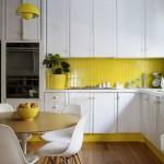 ,sari beyaz mutfak dekorasyonu