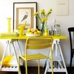 sari renkli aydinlik mutfaklar