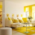 sari renkli ev dekorasyonu