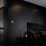 siyah kabartma desenli duvar kagidi