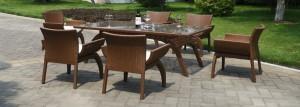 Tepe home hasır bahçe masa takımı