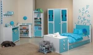 tirtil mavi beyaz cocuk odasi takimi