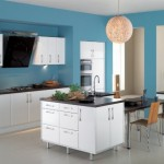 turkuaz ve beyaz mutfak dekorasyonu
