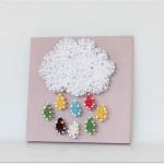 yagmur bulutu bebek odasi pano