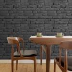 gri tuğla desenli duvar kağıdı