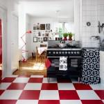 2015 modasi retro stili mutfak dekorasyonu