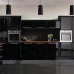 2015 siyah modern mutfak modeli