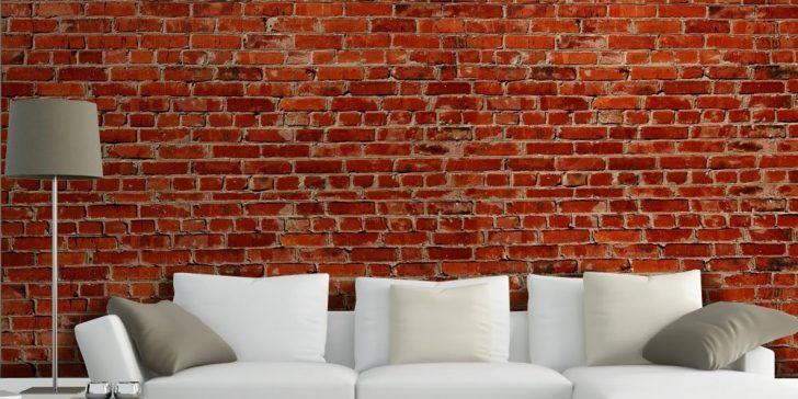 Backstein tapete wohnzimmer