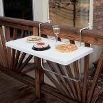 Askılı balkon masası