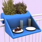 Askılı mini balkon masası