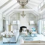 beyaz modern yazlik ev salonu