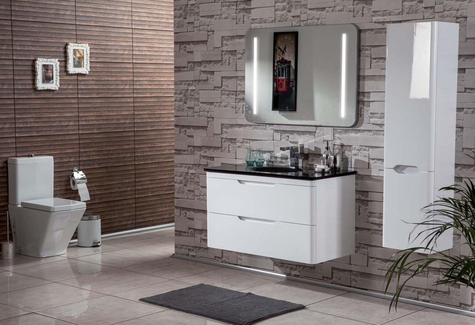 Blanco banyo dolabi dekorstyle - Banyo dekorasyon ...