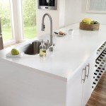 Modern Beyaz Çimstone Mutfak Tezgahı