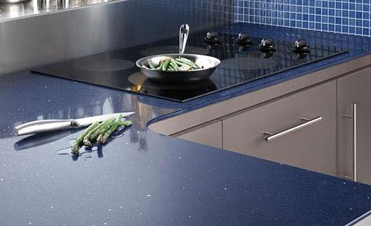 Koyu Mavi Çimstone Mutfak Tezgahı