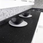 Şık Siyah Çimstone Mutfak Tezgahı