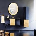 golden siyah banyo dolabi