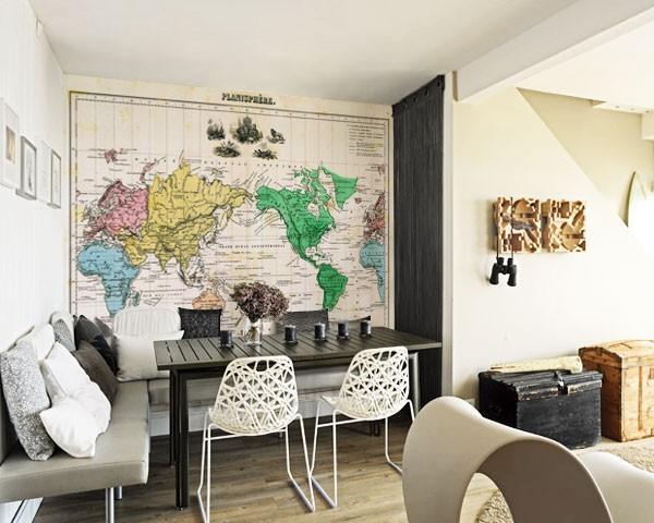 harita desenli duvar kagitlari
