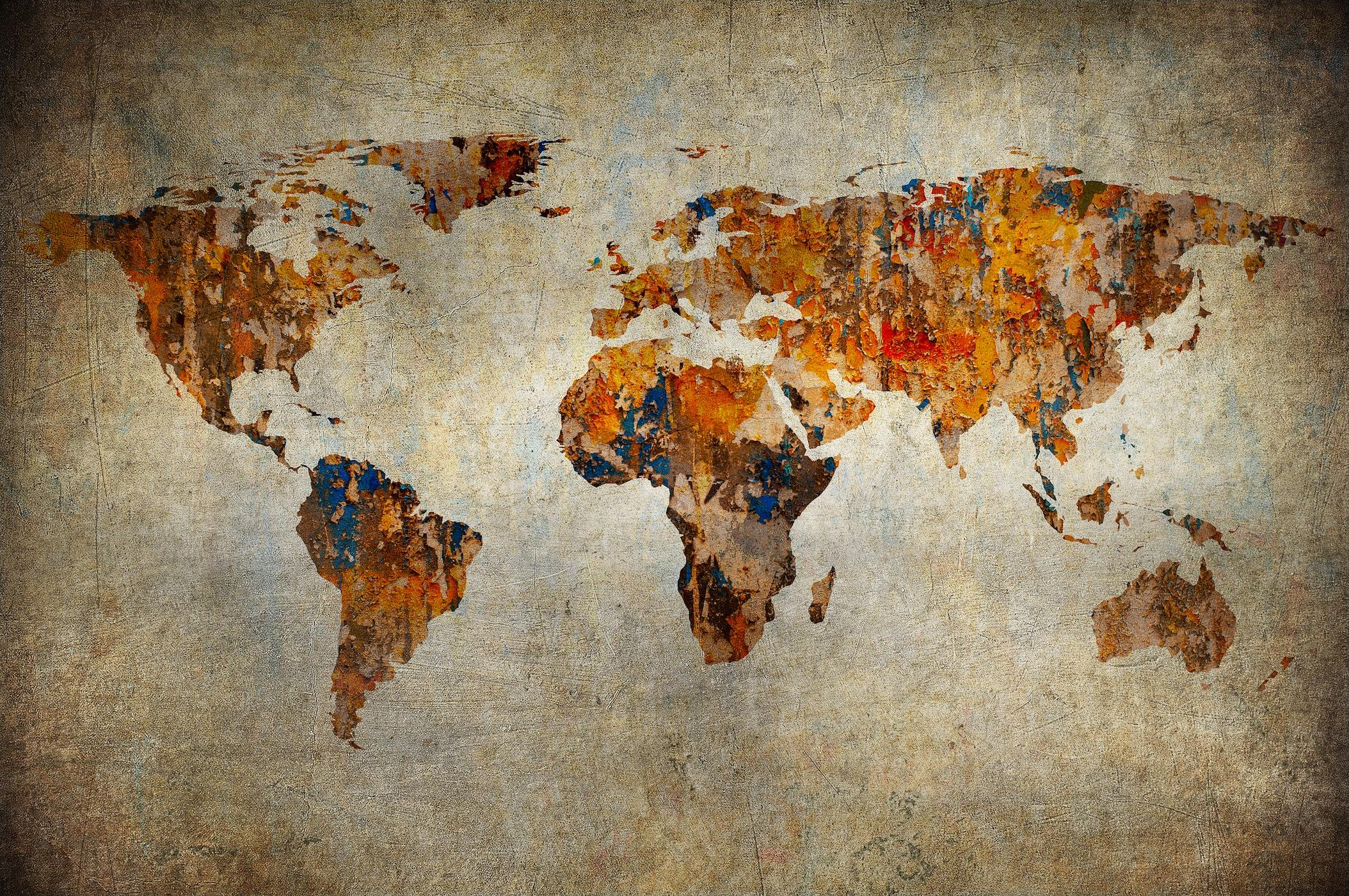 harita resimli duvar kagidi