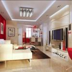 modern renkli salon dekorasyonu