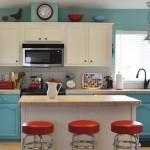 mutfaklarda tarz yaratan renkli dekorasyonlar