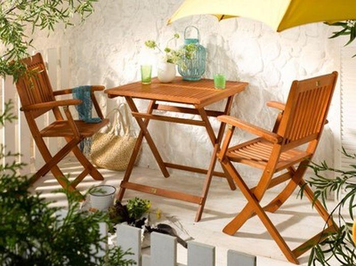 Balkonlar İçin Portatif Masa Sandalye Modelleri