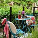 Rengarenk portatif balkon masa takımları