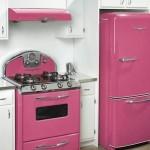 renkli mutfak beyaz esya modelleri
