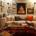 renkli oturma odasi dekorasyonu
