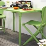 Renkli portatif balkon masa takımı