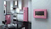 Mutfaklarda Rengarenk Dekoratif Beyaz Eşyalar 2015