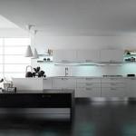 siyah beyaz modern mutfak modeli